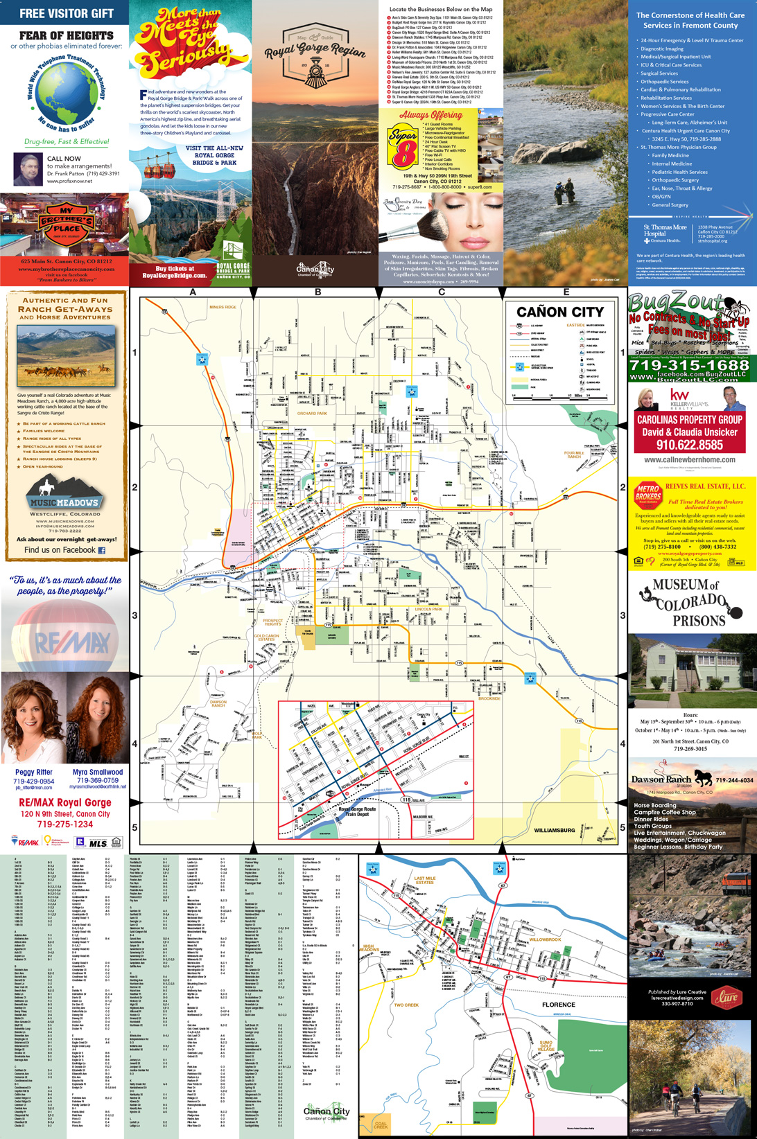 Canon City, Fremont County, CO Map - Lure Creative Design on
